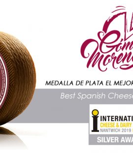 Queso Curado Artesano Manchego Don Gregorio - Medalla de plata en International Cheese Awards 2019